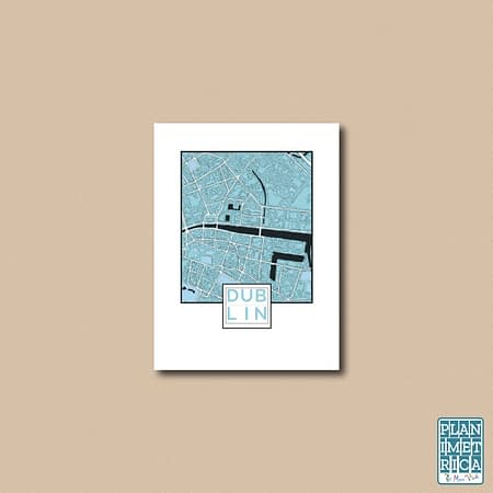unframed city map poster_ dublin